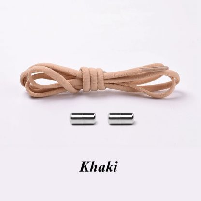 1Pair No tie Shoelaces Round Elastic Shoe Laces For Kids and Adult Sneakers Shoelace Quick Lazy Laces 21 Color Shoestrings