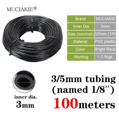 3/5mm 4/7mm 8/11mm New PVC Garden Water Hose Irrigation Watering Tubing 1/8'' 1/4'' 3/8'' Black White Blue Transparent Hose