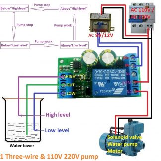 12V Water Level Automatic Controller Liquid Sensor Switch Solenoid valve Motor Pump automatic control Relay Board